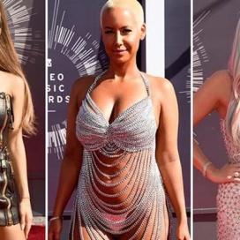 Amber  Rose seminua na cerimónia dos Prémios de Vídeos Musicais da MTV