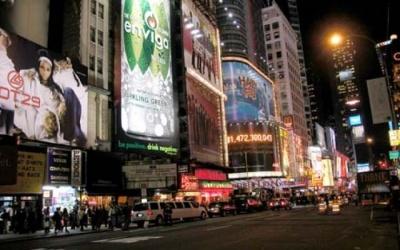 Nova York à noite - um show de luzes