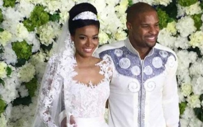 Leila Lopes e Osi Umenyiora casam-se em Luanda