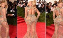 Vestidos ousados prevalecem na gala da moda em Nova York