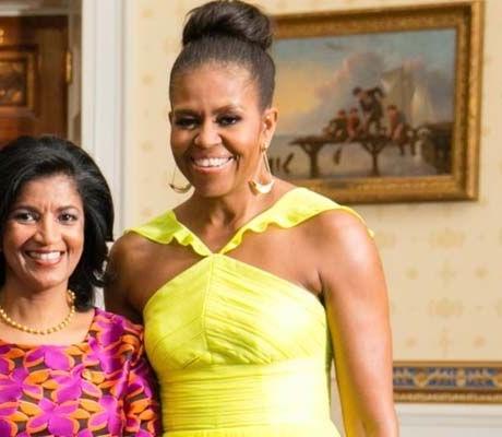 Michelle Obama e Lígia Fonseca reúnem-se em Cabo Verde